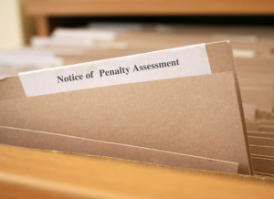Notice of Penalty Assessment under the Administrative Monetary Penalty System (AMPS)