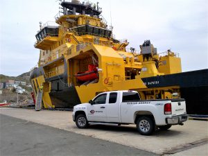 marine agency attending vessel in st. john's port