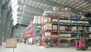 PF Collins warehouse interior offering warehousing and distribution services including storage and inventory management
